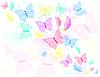 Hintergrund mit bunten Schmetterlingen