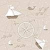 Nahtloser Hintergrund von Karte nut Schiffen | Stock Vektrografik