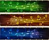 ID 3064268 | Abstrakte horizontale Banner mit Kreisen | Stock Vektorgrafik | CLIPARTO