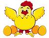 Huhn mit Eiern