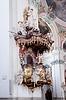 Wnętrze katedry St. Gallen. Szwajcarska góry | Stock Foto