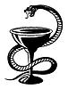 Medical symbol - snake on cup