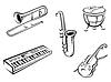 Музыкальные инструменты, набор | Векторный клипарт