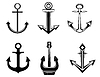 Vector clipart: Set of anchor symbols