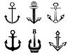 Vector clipart: Set of anchor symbols