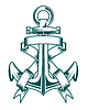 Vector clipart: Anchor with ribbons