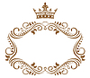 Elegant royal frame with crown