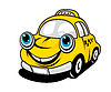Vector clipart: Cartoon taxi car