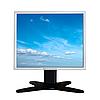 ID 3015255 | Monitor LCD wyizolowanych na białym tle | Foto stockowe wysokiej rozdzielczości | KLIPARTO