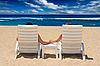 ID 3015407 | Paar in Strandkörben am Meer | Foto mit hoher Auflösung | CLIPARTO