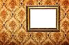 ID 3015454 | Позолоченная рамка на ретро-обоях | Фото большого размера | CLIPARTO