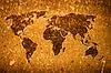 ID 3015502 | 旧褴褛世界地图 | 高分辨率照片 | CLIPARTO