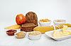 Wybór jedzenia Dieta na białym tle | Stock Foto
