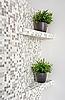 ID 3016711 | Teil von Interiors mit Mosaiken und grünen Pflanzen | Foto mit hoher Auflösung | CLIPARTO