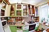 ID 3016939 | Grünes Küche-Interieur mit Utensilien | Foto mit hoher Auflösung | CLIPARTO