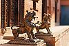 ID 3016987 | Löwen-Monster-Statuen, Bhaktapur, Nepal | Foto mit hoher Auflösung | CLIPARTO