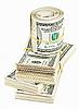 ID 3017166   Wiele bundle and roll z USA 100 dolarów banknotów   Foto stockowe wysokiej rozdzielczości   KLIPARTO