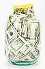 ID 3017178 | Viele $100-Banknoten im Glas | Foto mit hoher Auflösung | CLIPARTO