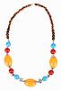 ID 3017197 | Ethnische tibetische Halskette mit Bernstein | Foto mit hoher Auflösung | CLIPARTO