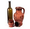 ID 3017470 | Weinflasche, Tontöpfe und Krug | Foto mit hoher Auflösung | CLIPARTO