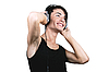 ID 3095379 | Молодой человек слушает музыку | Фото большого размера | CLIPARTO