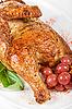 ID 3019586 | Połowa palone zbliżenie z kurczaka | Foto stockowe wysokiej rozdzielczości | KLIPARTO