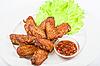 Skrzydełka z kurczaka | Stock Foto