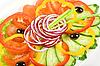 ID 3020077 | Нарезанные овощи на блюде | Фото большого размера | CLIPARTO