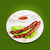 ID 3020145 | Жареная колбаса | Фото большого размера | CLIPARTO