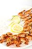 Krewetki z grilla | Stock Foto