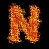 ID 3021424 | Огненная буквица N | Фото большого размера | CLIPARTO