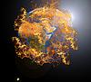 ID 3021441 | 화재에 지구 행성 | 높은 해상도 사진 | CLIPARTO