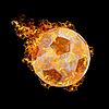 ID 3021446 | Огненный футбольный мяч | Фото большого размера | CLIPARTO