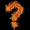 Feuer-Fragezeichen | Stock Foto