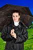 ID 3027277 | Kobieta pod parasolem | Foto stockowe wysokiej rozdzielczości | KLIPARTO