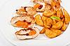 ID 3027453 | Mięsa pieczonego kurczaka i ziemniaków | Foto stockowe wysokiej rozdzielczości | KLIPARTO