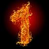 Feuer-Ziffer 1 | Stock Foto