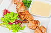 Kebab z kurczaka z grilla | Stock Foto