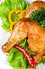 ID 3028613 | Pieczona szynka z kurczaka | Foto stockowe wysokiej rozdzielczości | KLIPARTO
