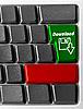 ID 3029741 | Computer-Tastatur mit Download-Taste | Foto mit hoher Auflösung | CLIPARTO