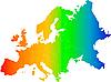 ID 3029744 | Радужная карта Европы | Иллюстрация большого размера | CLIPARTO