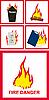 ID 3029751 | Znaki niebezpieczeństwo pożaru | Stockowa ilustracja wysokiej rozdzielczości | KLIPARTO
