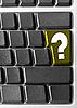 ID 3029821 | Computer-Tastatur mit gelber Fragen-Taste | Foto mit hoher Auflösung | CLIPARTO