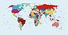 ID 3029833 | Polityczna mapa świata | Stockowa ilustracja wysokiej rozdzielczości | KLIPARTO