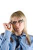 ID 3030470 | Business-Frau mit Brille | Foto mit hoher Auflösung | CLIPARTO
