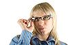 ID 3030471 | Biznes kobieta w okularach | Foto stockowe wysokiej rozdzielczości | KLIPARTO