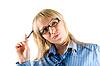 ID 3030475 | Geschäftsfrau mit Kugelschreiber | Foto mit hoher Auflösung | CLIPARTO