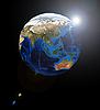 ID 3030545 | Азия на земном шаре | Фото большого размера | CLIPARTO