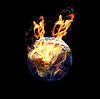 ID 3030567 | Erdkugel im Feuer | Foto mit hoher Auflösung | CLIPARTO