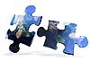 ID 3030568 | Global map puzzles comunication | Foto stockowe wysokiej rozdzielczości | KLIPARTO